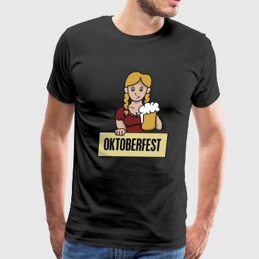 Oktoberfest bavarian Beer Girl costume gift idea - Men's Premium T-Shirt