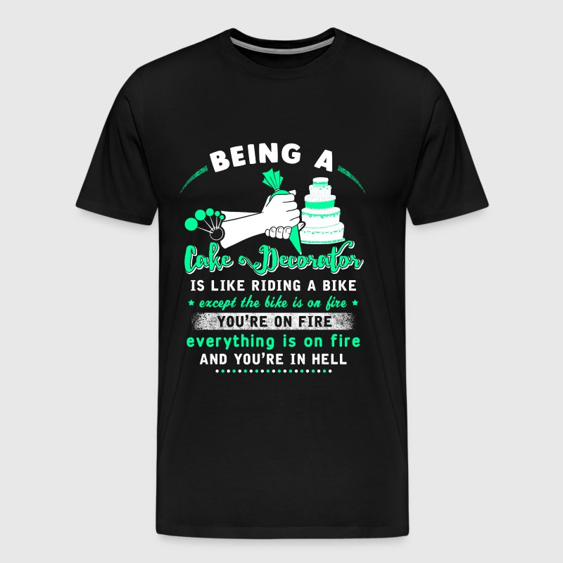 Cake decorator - It's like riding a bike t-shirt - Men's Premium T-Shirt