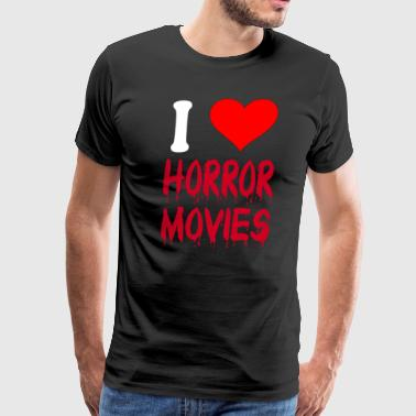 I Love Horror Movies - Men's Premium T-Shirt