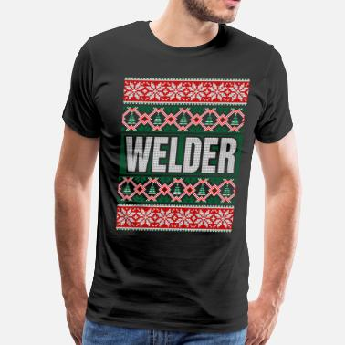 Welder Ugly Christmas Welder Ugly Christmas Sweater - Men's Premium T-Shirt