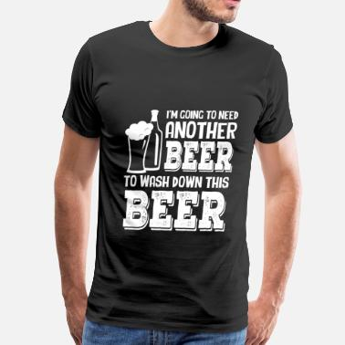 Corona Funny Beer lover - Another beer to wash down this beer - Men's Premium T-Shirt
