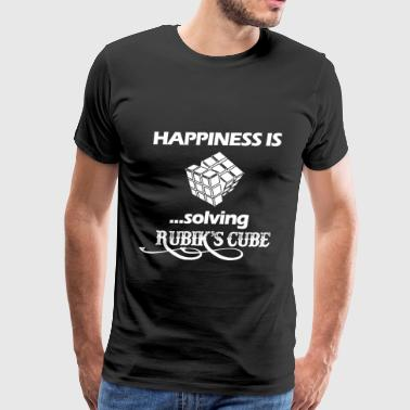 Balloon Twisting Happiness is solving Rubik's cube - Men's Premium T-Shirt