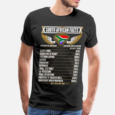 Proudly South African Facts Tshirt - Men's Premium T-Shirt