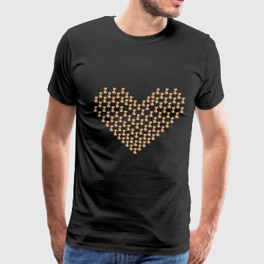 Cat Heart Beat Cats heart - Men's Premium T-Shirt