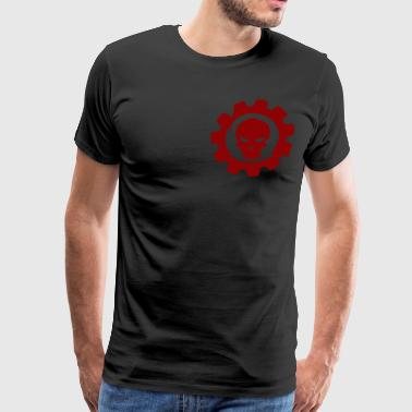 cog and skull - Men's Premium T-Shirt