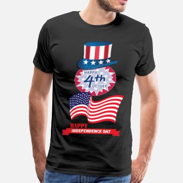Happy 4th July Happy 4th of July - Men's Premium T-Shirt