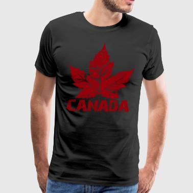 Cool Canada Souvenir Distressed Maple Leaf Art for - Men's Premium T-Shirt