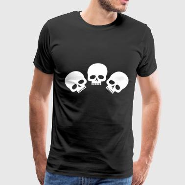Three Skulls - Men's Premium T-Shirt
