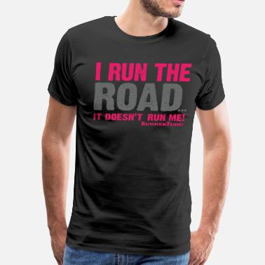 Road Running I run the road mug - Men's Premium T-Shirt