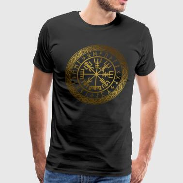 Vegvisir - Viking  Navigation Compass - Men's Premium T-Shirt