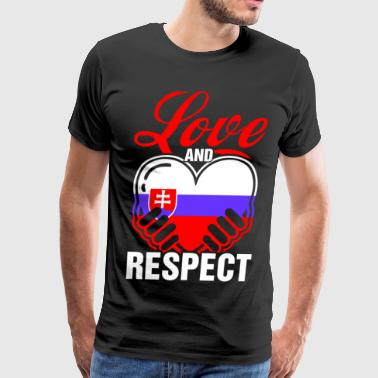 Love And Respect Slovakia - Men's Premium T-Shirt