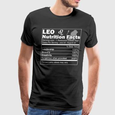 Leo Nutrition Facts | Leo Horoscope Zodiac - Men's Premium T-Shirt