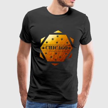 chicago golden design shirt summur shirt - Men's Premium T-Shirt