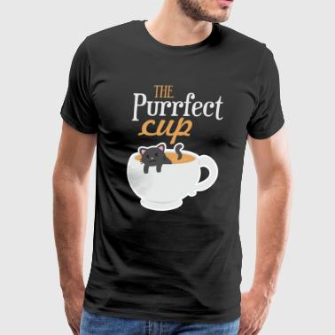 The Purrfect cup - Men's Premium T-Shirt