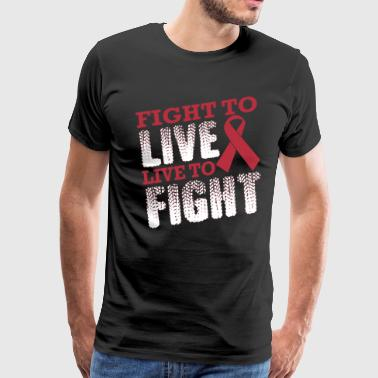 Fight To Live Live Fight Breast Cancer Awareness - Men's Premium T-Shirt