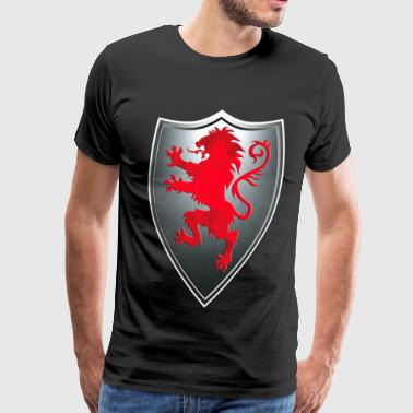Knights Templars Crusaders Lion weapon shield - Men's Premium T-Shirt