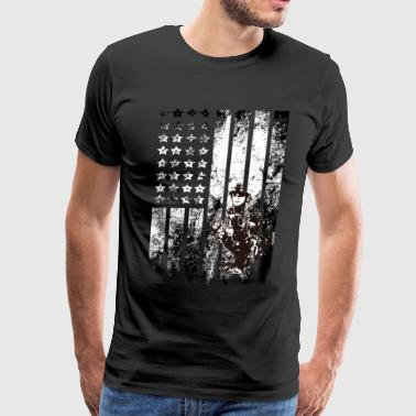 usa solider flag t shirt - Men's Premium T-Shirt