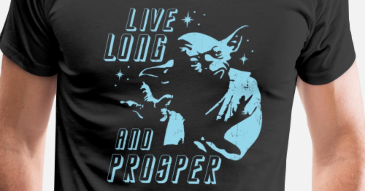 Yoda Spock Star Trek Star Wars Quote Mens Premium T Shirt Spreadshirt