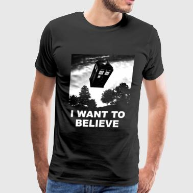 I want to believe Who - Men's Premium T-Shirt