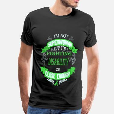 Aspergers Disability - Fighting disability like superwoman - Men's Premium T-Shirt
