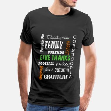 Thanksgiving Satire Thanksgiving - Football turkey feast autumn - Men's Premium T-Shirt
