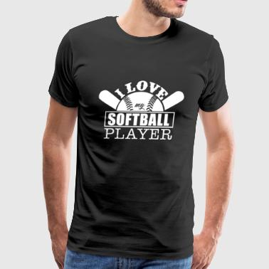 Love My Softball Player - Men's Premium T-Shirt