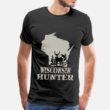 Beer Continents Wisconsin hunter - Men's Premium T-Shirt