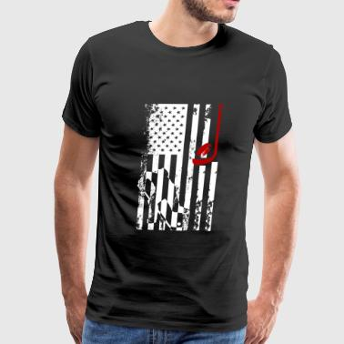 Hockey Flag Clothing Hockey Flag Shirt - Men's Premium T-Shirt