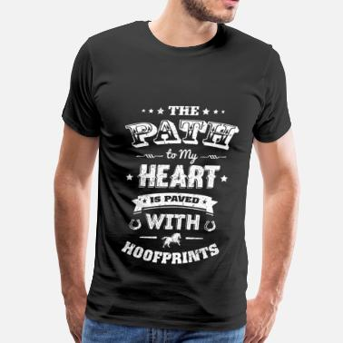 Hoof Hearted Hoof prints - The path to my heart is paved - Men's Premium T-Shirt
