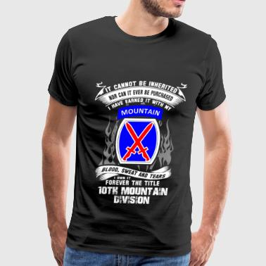 4x 10th mountain division - I've earned it with blood - Men's Premium T-Shirt