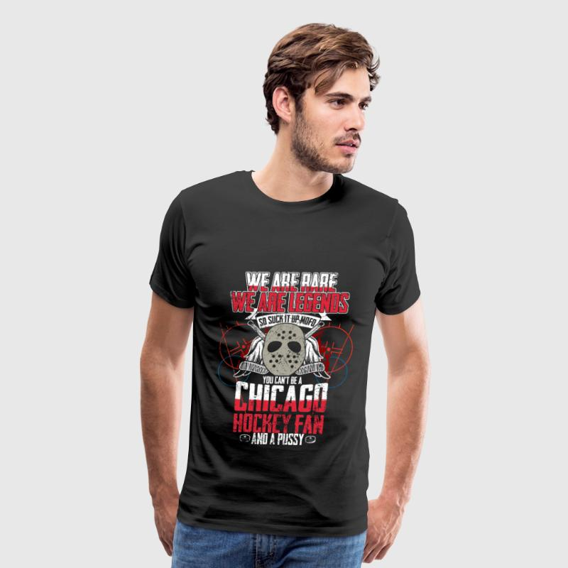 Chicago hockey fan and a pussy - Men's Premium T-Shirt