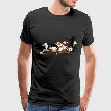 feeding monkies - Men's Premium T-Shirt