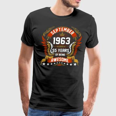 55 September 1963 55 Years Of Being Awesome - Men's Premium T-Shirt