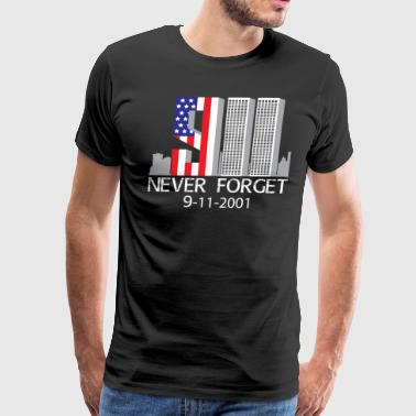 9/11 never forget - Men's Premium T-Shirt