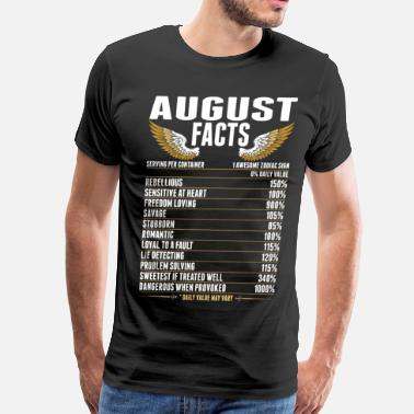 Kings Are Born In August August Facts Tshirt - Men's Premium T-Shirt