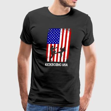 Kickboxing USA Kickboxer Gift for Martial Arts - Men's Premium T-Shirt