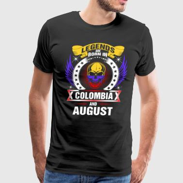 Legends born in Colombia and August - Men's Premium T-Shirt