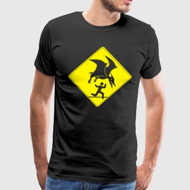 Pterosaur Warning - Men's Premium T-Shirt