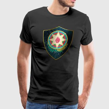 Azerbaijan Coat of Arms - Men's Premium T-Shirt