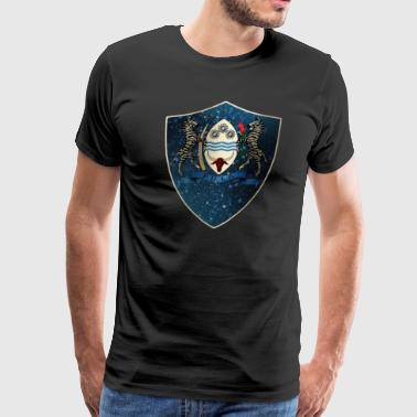 Botswana Coat of Arms - Men's Premium T-Shirt