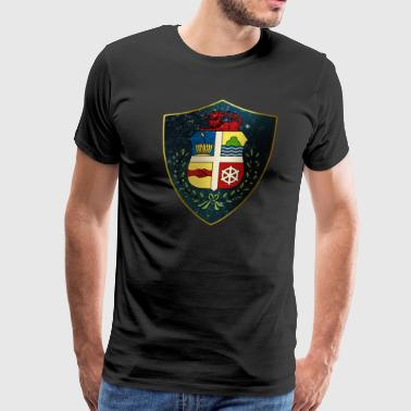 Medieval Art Aruba Coat of Arms - Men's Premium T-Shirt
