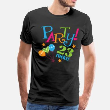 23 Birthday Gift Ideas 23rd Birthday 23 Rocks - Men's Premium T-Shirt