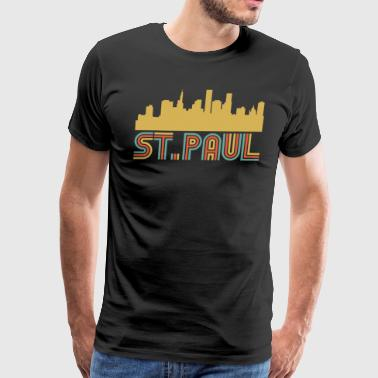Vintage Style St. Paul Minnesota Skyline - Men's Premium T-Shirt