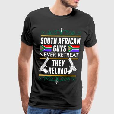 South African Guys Never Retreat They Reload - Men's Premium T-Shirt