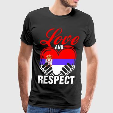 Love And Respect Serbia - Men's Premium T-Shirt