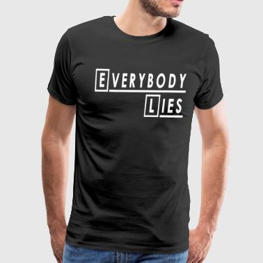 House Md House - Everybody Lies - Men's Premium T-Shirt