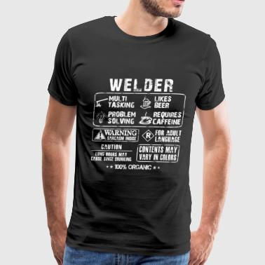 Welder - Long hours may cause binge drinking - Men's Premium T-Shirt