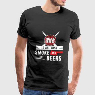 REAL BBQ Smoke and Beers - Men's Premium T-Shirt