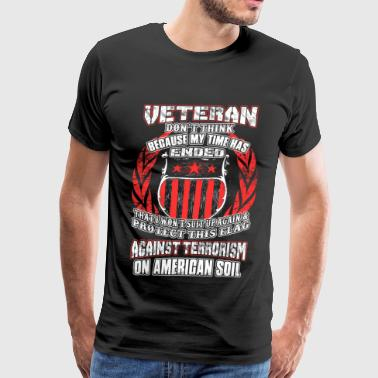 Iraq Veteran - Suit up again & protect this flag - Men's Premium T-Shirt