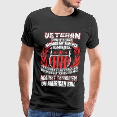 Afghanistan Air Force Iraq Veteran - Suit up again & protect this flag - Men's Premium T-Shirt
